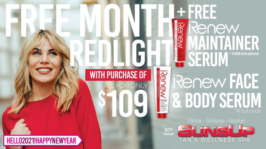 FREE MONTH OF REDLIGHT + FREE iRENEW™ MAINTAINER!